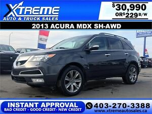 2013 Acura MDX SH-AWD  $229 bi-weekly APPLY NOW DRIVE NOW