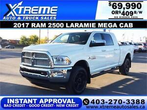 2017 RAM 2500 LARAMIE MEGA CAB *INSTANT APPROVAL* $409/BW!