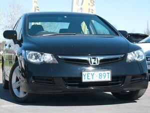 2007 Honda Civic 8th Gen MY07 VTi-L Black 5 Speed Manual Sedan Pearce Woden Valley Preview