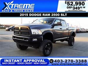 2015 RAM 2500 SLT LIFTED *INSTANT APPROVAL* $0 DOWN $349/BW!