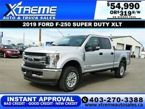 2019 Ford Super Duty F-250 SRW XLT $319/BW APPLY NOW