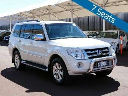 2012 Mitsubishi Pajero NW MY12 Platinum Edition White 5 Speed Auto Sports Mode Wagon