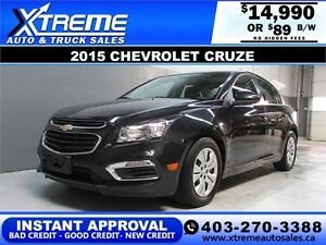 2015 Chevrolet Cruze $0 DOWN $89 bi-weekly APPLY NOW DRIVE NOW