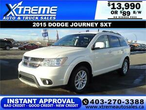 2015 DODGE JOURNEY SXT $89 B/W $0 DOWN APPLY NOW DRIVE NOW