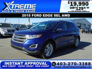 2015 FORD EDGE SEL AWD $0 DOWN $129 B/W APPLY NOW DRIVE NOW