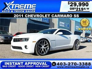 2011 Chevrolet Camaro SS $219 bi-weekly APPLY NOW DRIVE NOW