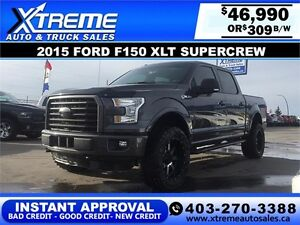 2015 Ford F150 XLT Supercrew Lifted $309 b/w APPLY NOW DRIVE NOW