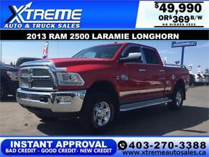 2013 Ram 2500 Laramie Longhorn INSTANT APPROVAL $0 DOWN $369/BW