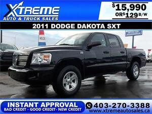 2011 Dodge Dakota SXT 4x4 $129 bi-weekly APPLY NOW DRIVE NOW