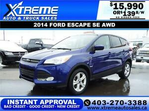 2014 FORD ESCAPE SE 4WD $139 *$0 DOWN* BI-WEEKLY APPLY NOW