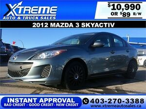 2012 Mazda 3 SkyActiv $89 bi-weekly APPLY NOW DRIVE NOW