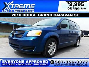 2010 Dodge Grand Caravan SE $89 BI-WEEKLY APPLY NOW DRIVE NOW