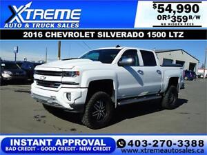 2016 CHEVROLET SILVERADO LIFTED *INSTANT APPROVED* $359/BW