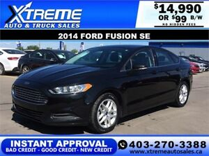 2014 Ford Fusion SE $99 bi-weekly APPLY NOW DRIVE NOW