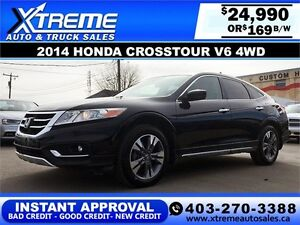 2014 Honda Crosstour V6 4WD $169 bi-weekly APPLY NOW DRIVE NOW
