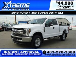 2019 Ford Super Duty F-350 SRW XLT *INSTANT APPROVAL $299/BW!
