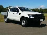 2013 Ford Ranger PX XL White Manual Cab Chassis Brookvale Manly Area Preview