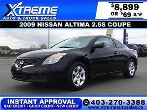 2009 Nissan Altima 2.5S Coupe $69 bi-weekly APPLY NOW DRIVE NOW