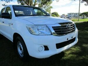 2013 Toyota Hilux TGN16R MY14 Workmate Double Cab 4x2 White 5 Speed Manual Utility Kempsey Kempsey Area Preview
