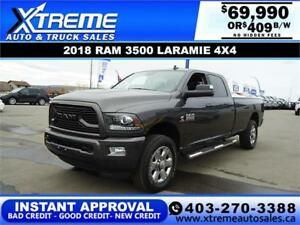 2018 RAM 3500 LARAMIE LONG BOX *INSTANT APPROVAL* $409/BW