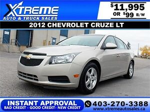 2012 Chevrolet Cruze LT $99 bi-weekly APPLY NOW DRIVE NOW