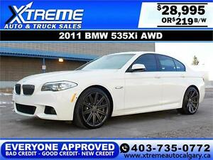 2011 BMW 535xi AWD $219 bi-weekly APPLY NOW DRIVE NOW