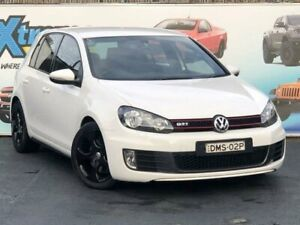2011 Volkswagen Golf VI MY11 GTi White Sports Automatic Dual Clutch Hatchback Campbelltown Campbelltown Area Preview