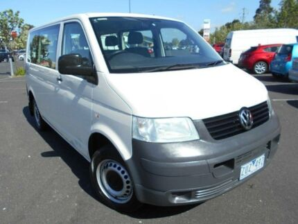 2008 Volkswagen Transporter T5 MY08 Crewvan (LWB) White 5 Speed Manual Van Braybrook Maribyrnong Area Preview