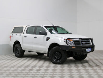 2012 Ford Ranger PX XL 3.2 (4x4) White 6 Speed Automatic Dual Cab Utility