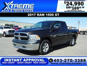 2017 RAM 1500 ST 4X4 *INSTANT APPROVED* $169/BI-WEEKLY