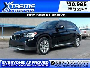 2012 BMW X1 xDrive28i $159 bi-weekly APPLY NOW DRIVE NOW