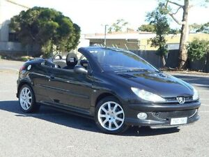 2005 Peugeot 206 CC Black 5 Speed Manual Cabriolet Maidstone Maribyrnong Area Preview