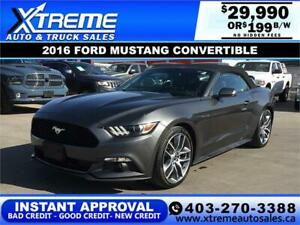 2016 FORD MUSTANG PREMIUM CONVERTIBLE $199 B/W *INSTANT APPROVAL
