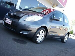 2008 Toyota Yaris NCP90R MY09 YR Grey 4 Speed Automatic Hatchback Svensson Heights Bundaberg City Preview