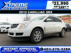 2012 Cadillac SRX $189 BI-WEEKLY APPLY NOW DRIVE NOW