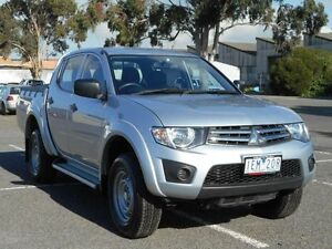 2015 Mitsubishi Triton MN MY15 GLX Silver 4 Speed Automatic Double Cab Utility Maidstone Maribyrnong Area Preview