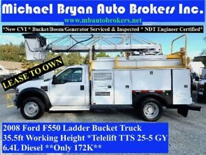2008 FORD F550 35FT LADDER BUCKET TRUCK *VERY RARE* ONLY 172K