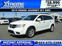 2015 DODGE JOURNEY R/T AWD *INSTANT APPROVAL* $0 DOWN $119/BW Calgary Alberta Preview
