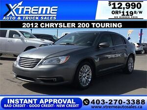 2012 Chrysler 200 Touring $119 bi-weekly APPLY NOW DRIVE NOW