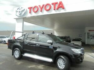 2015 Toyota Hilux KUN26R MY14 SR5 (4x4) Eclipse Black 5 Speed Automatic Dual Cab Pick-up Belmore Canterbury Area Preview