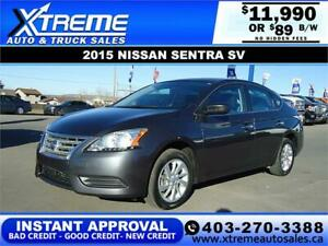 2015 NISSAN SENTRA SV $89 B/W * $0 DOWN* APPLY NOW DRIVE NOW