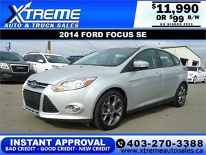 2014 FORD FOCUS SE HATCH *INSTANT APPROVAL* $0 DOWN  $99 B/W!