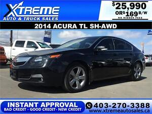 2014 Acura TL SH-AWD LOADED $169 bi-weekly APPLY NOW DRIVE NOW