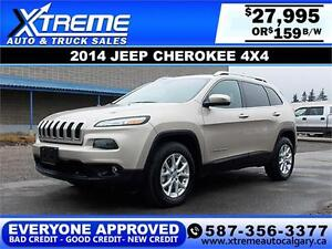 2015 Jeep Cherokee 4x4 North V6 $159 bi-week APPLY NOW DRIVE NOW