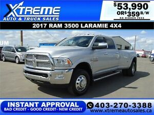 2017 RAM 3500 LARAMIE DUALLY *INSTANT APPROVED* $359/BI-WEEKLY
