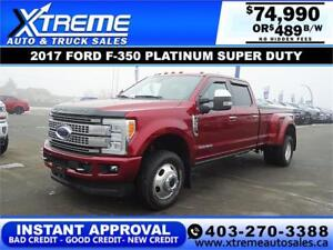 2017 FORD F-350 PLATINUM *INSTANT APPROVAL* $489/BW! APPLY NOW