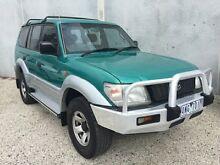 1996 Toyota Landcruiser Prado VZJ95R GXL (4x4) Green & Silver 4 Speed Automatic 4x4 Wagon Frankston North Frankston Area Preview