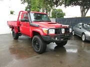 2011 Toyota Landcruiser VDJ79R MY10 GX Red 5 Speed Manual Cab Chassis Coopers Plains Brisbane South West Preview