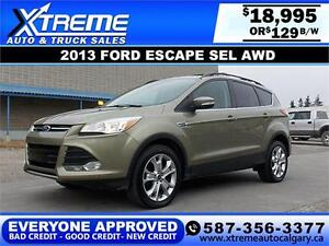 2013 Ford Escape SEL AWD $129 bi-weekly APPLY NOW DRIVE NOW
