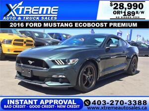 2016 FORD MUSTANG PREMIUM $189 BI-WEEKLY APPLY NOW DRIVE NOW